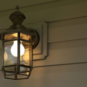 Night time shoot of a porch light.