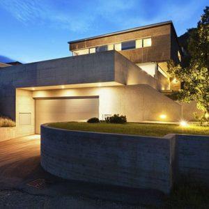 Architecture modern design, beautiful house, night scene