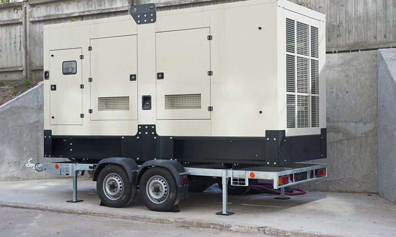 Big Industrial Backup Generator for Office Building.Standby Generator.