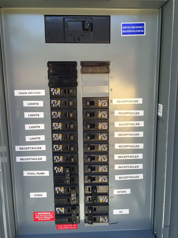 99 circuit breaker panel labeling and home electrical inspection